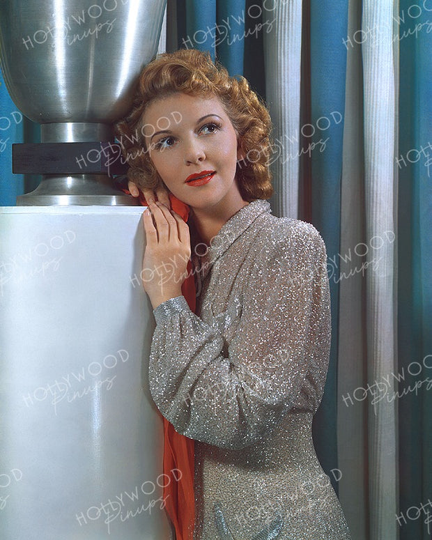 Mary Martin Glittering Gown 1940 | Hollywood Pinups | Film Star Colour and B&W Prints
