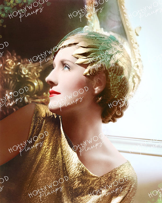 Norma Shearer Glittering Gold by GEORGE HURRELL 1932 | Hollywood Pinups Color Prints