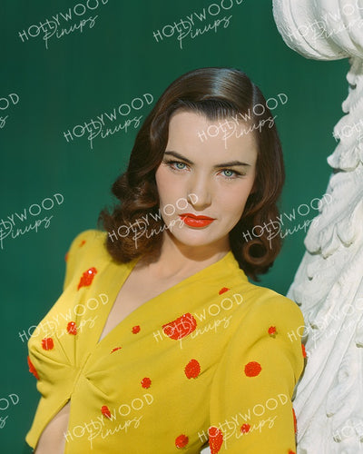 Ella Raines Sultry Glamour 1944 Kodachrome | Hollywood Pinups Color Prints