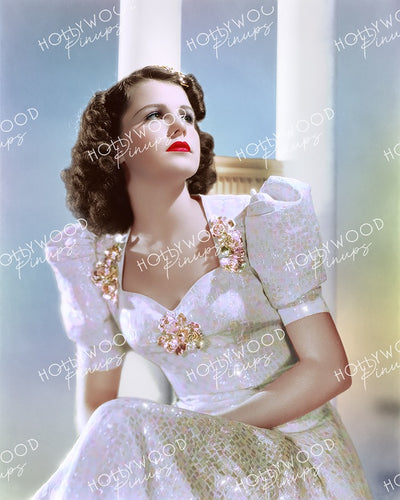 Helen Parrish Shimmering Dress 1938 by RAY JONES | Hollywood Pinups Color Prints