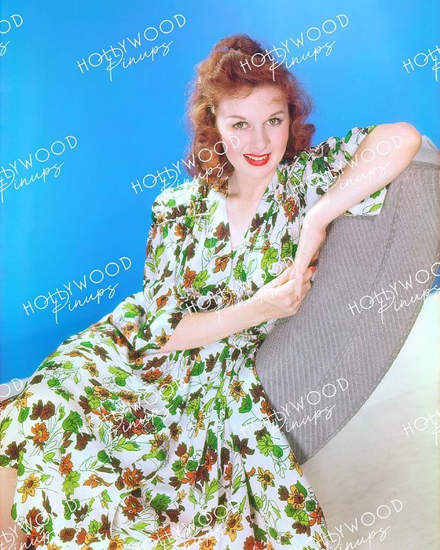 Susan Hayward Floral Frock 1939 | Hollywood Pinups | Film Star Color and B&W Prints