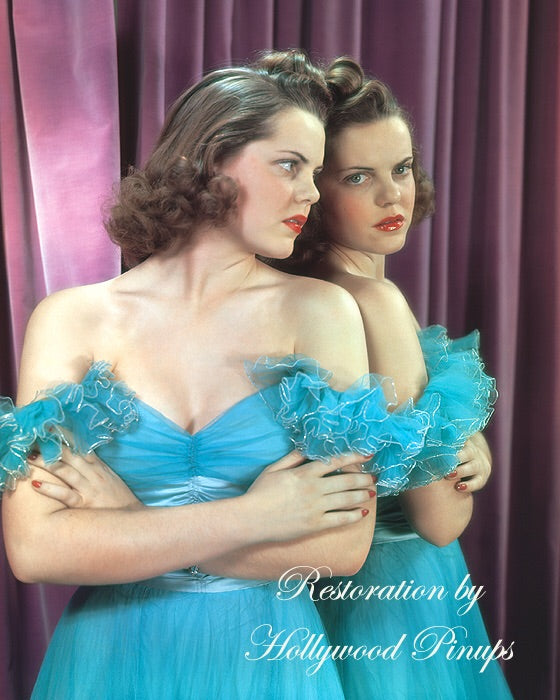 Ruth Terry Blue Belle 1939 | Hollywood Pinups | Film Star Colour and B&W Prints