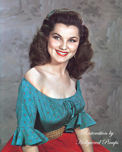 Debra Paget Radiant Smile 1952 | Hollywood Pinups | Film Star Colour and B&W Prints