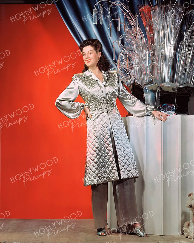 Rosalind Russell FLIGHT FOR FREEDOM 1943 Kodachrome | Hollywood Pinups Color Prints