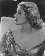 Ilona Massey Dazzling Profile 1937 by CLARENCE BULL | Hollywood Pinups | Film Star Colour and B&W Prints
