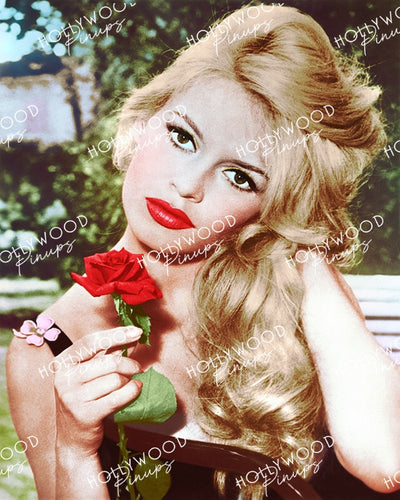 Brigitte Bardot Rose Beauty 1958 | Hollywood Pinups Color Prints