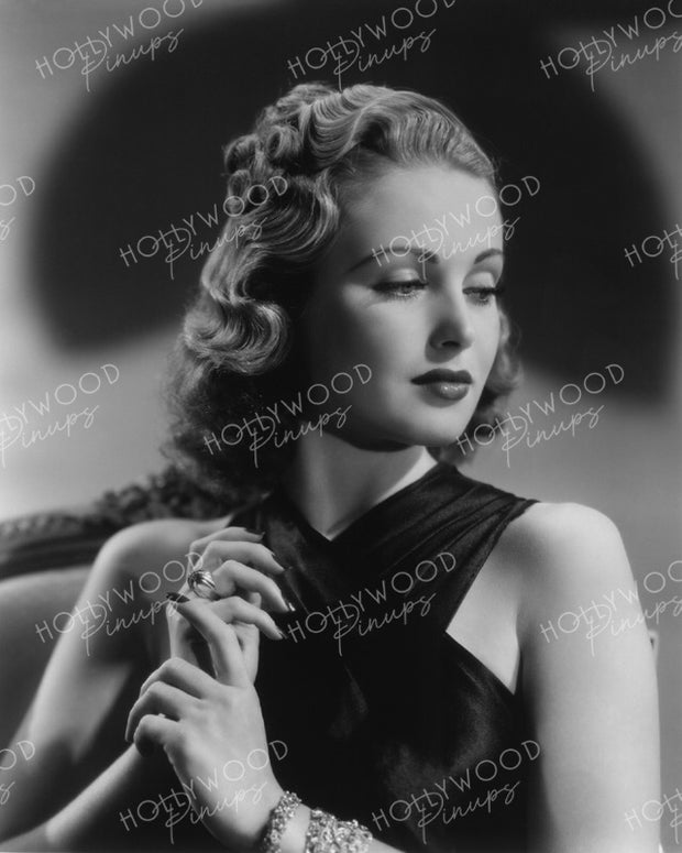 June Lang Dazzling Beauty 1937 by GENE KORNMAN | Hollywood Pinups Color Prints