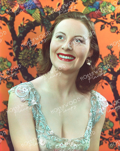 Michele Morgan Dazzling Glimmer 1943 | Hollywood Pinups | Film Star Colour and B&W Prints