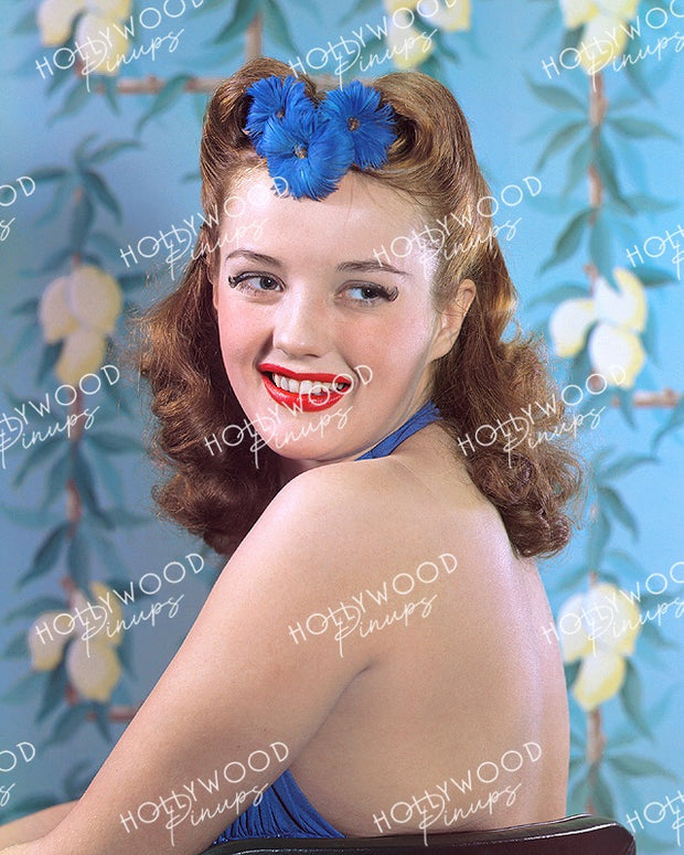 Phyllis Brooks Blue Belle 1940 | Hollywood Pinups | Film Star Color and B&W Prints