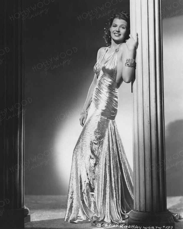 Rita Hayworth Glittering Goddess 1939 | Hollywood Pinups | Film Star Colour and B&W Prints