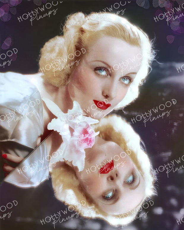 Carole Lombard NO MORE ORCHIDS 1932 by Otto Dyar | Hollywood Pinups Color Prints