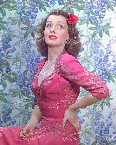 Ellen Drew Pink Rose 1944 | Hollywood Pinups | Film Star Colour and B&W Prints