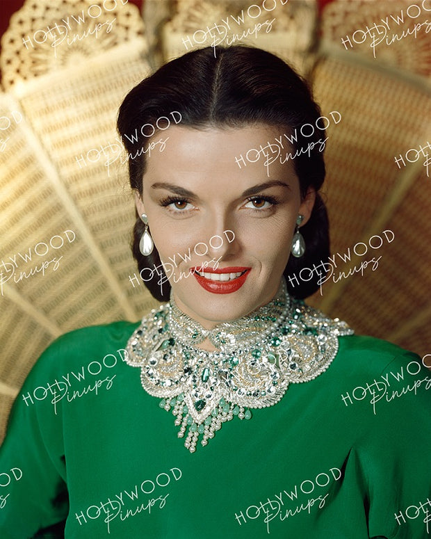 Jane Russell Bejewelled Glamour 1951 | Hollywood Pinups | Film Star Colour and B&W Prints