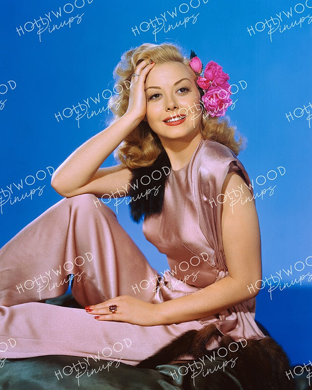 Adele Mara Rose Pink 1948 KODACHROME - NEW ! | Hollywood Pinups | Film Star Colour and B&W Prints