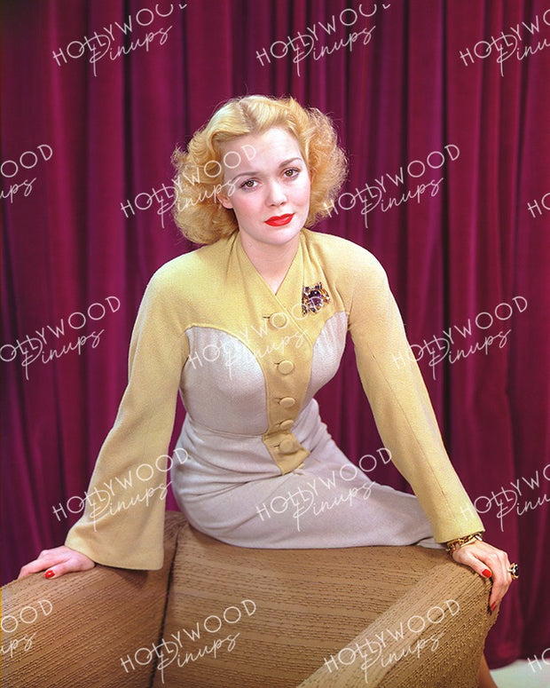Jane Wyman Sultry Blonde 1939 | Hollywood Pinups Color Prints