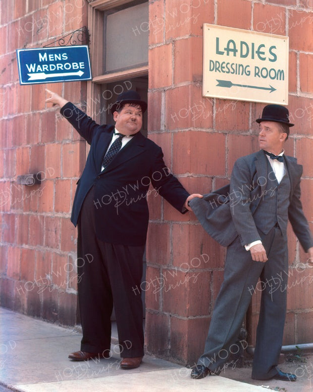 Laurel and Hardy DRESSING ROOMS 1938 | Hollywood Pinups | Film Star Colour and B&W Prints