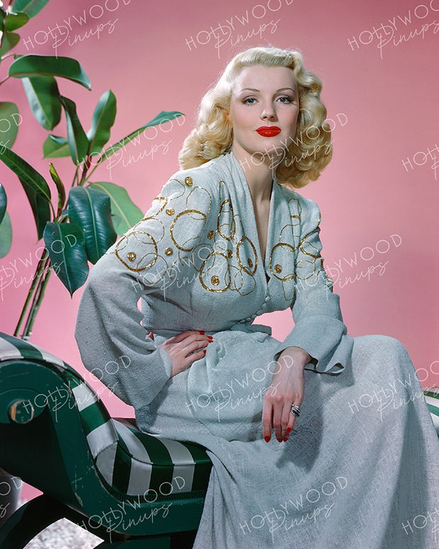 Dolores Moran Pink Passion 1945 KODACHROME | Hollywood Pinups | Film Star Colour and B&W Prints