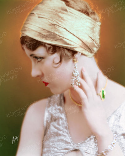 Olive Borden Luminous Profile 1926 by AUTREY | Hollywood Pinups | Film Star Colour and B&W Prints