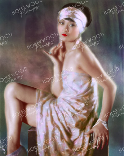 Anna May Wong Seductive Allure 1928 | Hollywood Pinups Color Prints