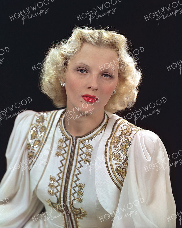 Ilona Massey Sultry Blonde 1940 | Hollywood Pinups | Film Star Color and B&W Prints