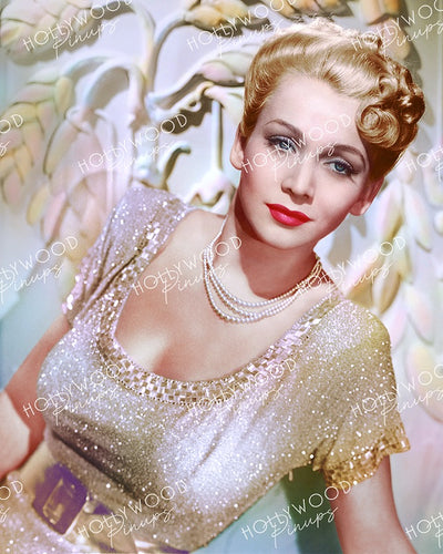 Carole Landis Glittering Glamour 1942 | Hollywood Pinups | Film Star Colour and B&W Prints