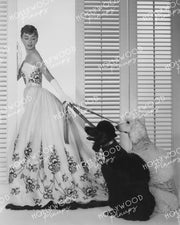 Audrey Hepburn SABRINA 1954 Pet Poodles - NEW ! | Hollywood Pinups | Film Star Colour and B&W Prints