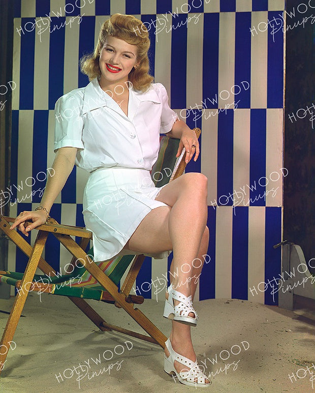 Martha O'Driscoll Leggy Pinup 1942 | Hollywood Pinups | Film Star Colour and B&W Prints