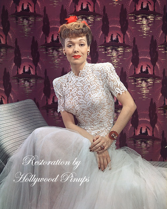 Jane Wyman White Lace 1943 - NEW ! | Hollywood Pinups | Film Star Colour and B&W Prints