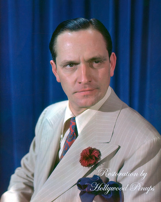 Fredric March Red Carnation 1939 | Hollywood Pinups | Film Star Colour and B&W Prints