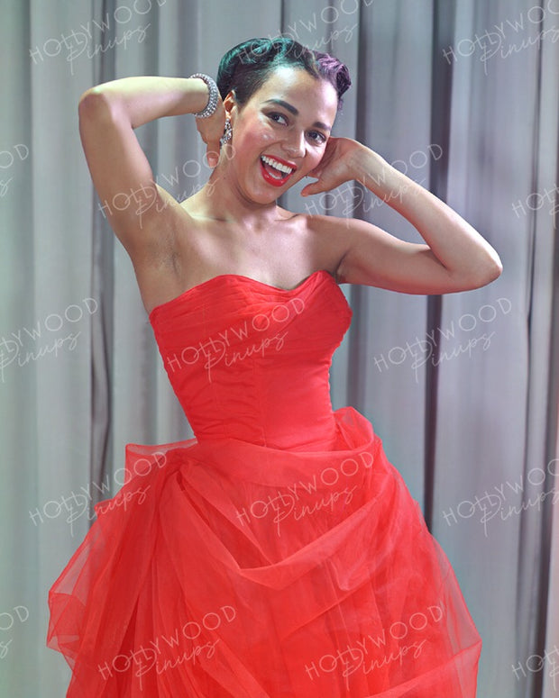 Dorothy Dandridge Ravishing Red 1952 | Hollywood Pinups Color Prints