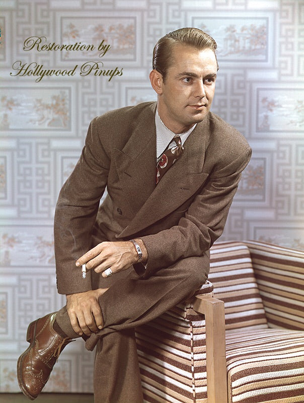 Alan Ladd Suave Suit 1942 | Hollywood Pinups | Film Star Colour and B&W Prints