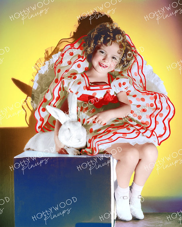 Shirley Temple Easter Bunny 1934 - NEW ! | Hollywood Pinups | Film Star Colour and B&W Prints