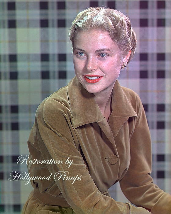 Grace Kelly Gold Velveteen 1951 | Hollywood Pinups | Film Star Colour and B&W Prints