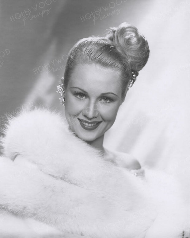 Virginia Mayo Glamour Hairdress 1948 | Hollywood Pinups | Film Star Colour and B&W Prints