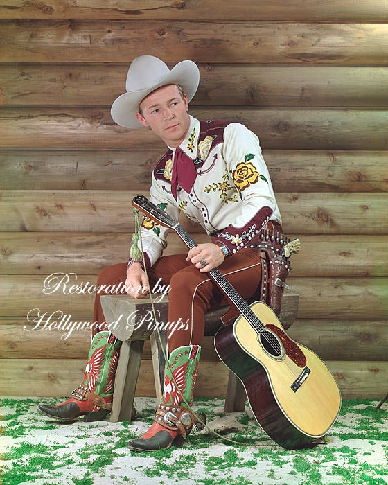 Roy Rogers Guitar Cowboy 1942 | Hollywood Pinups | Film Star Colour and B&W Prints