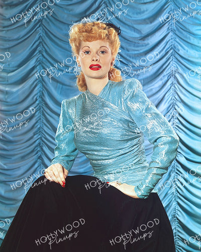 Lucille Ball Blue Shimmer 1941 | Hollywood Pinups Color Prints