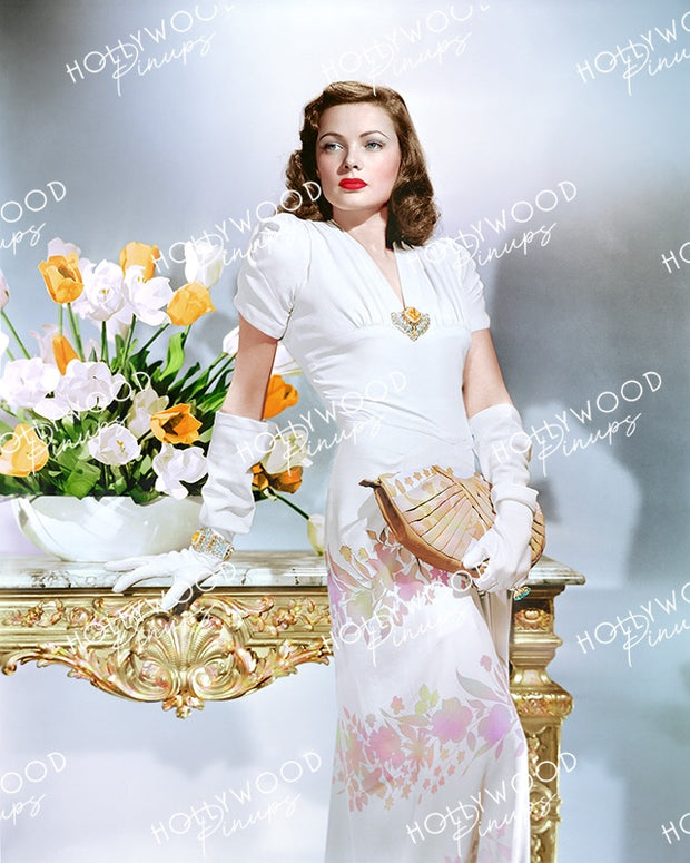 Gene Tierney Floral Belle 1944 LAURA | Hollywood Pinups Color Prints