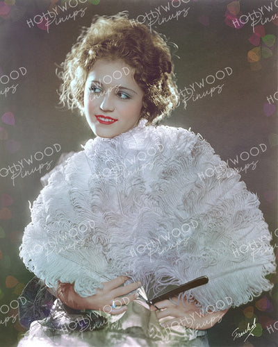 Gladys Walton Feather Fan 1920 by FREULICH | Hollywood Pinups Color Prints