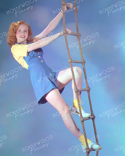 Joan Leslie Rope Ladder 1941 | Hollywood Pinups | Film Star Colour and B&W Prints