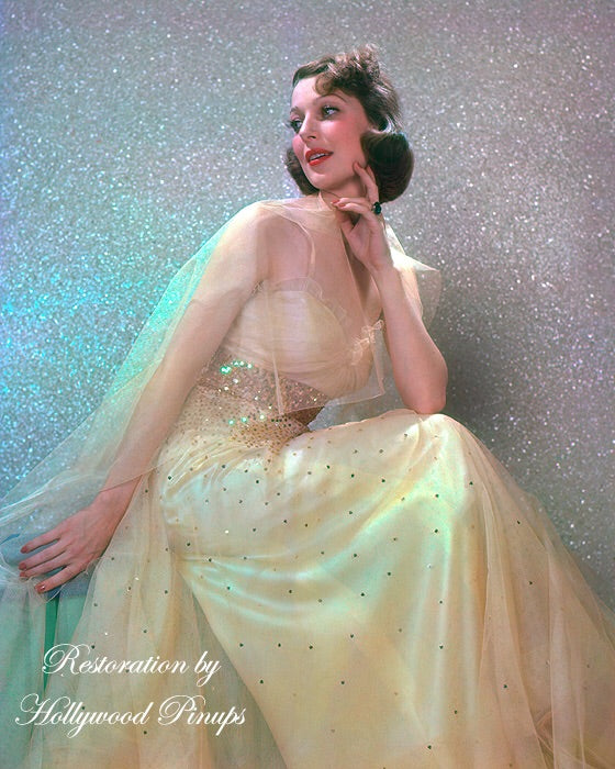 Loretta Young Dreamy Vision 1937 | Hollywood Pinups | Film Star Colour and B&W Prints