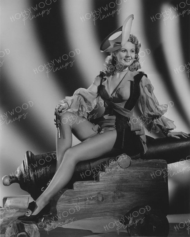 Virginia Mayo Pirate Pinup 1944 | Hollywood Pinups Color Prints