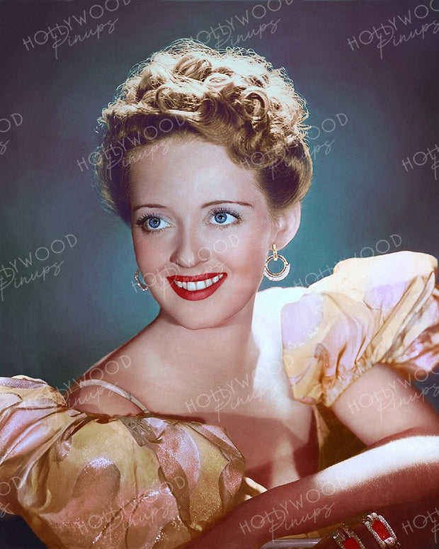 Bette Davis Period Charm 1938 | Hollywood Pinups | Film Star Colour and B&W Prints