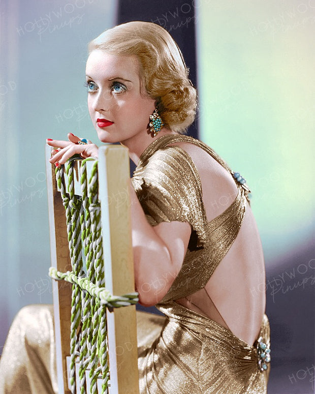 Bette Davis Glittering Glamour 1935 | Hollywood Pinups | Film Star Colour and B&W Prints