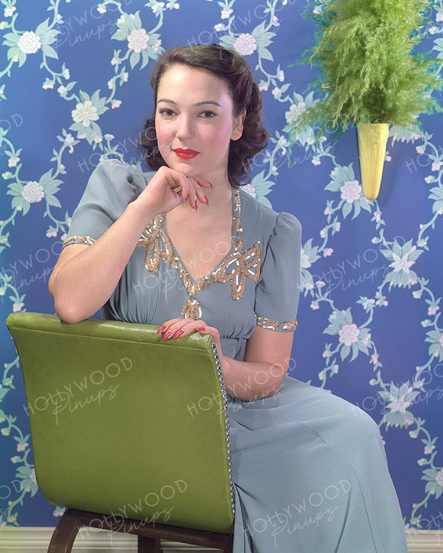 June Duprez Powder Blue 1940 | Hollywood Pinups | Film Star Colour and B&W Prints