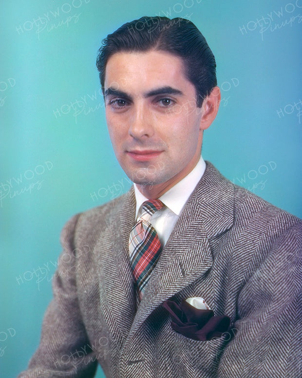 Tyrone Power Earliest Color 1937 Portrait | Hollywood Pinups | Film Star Colour and B&W Prints