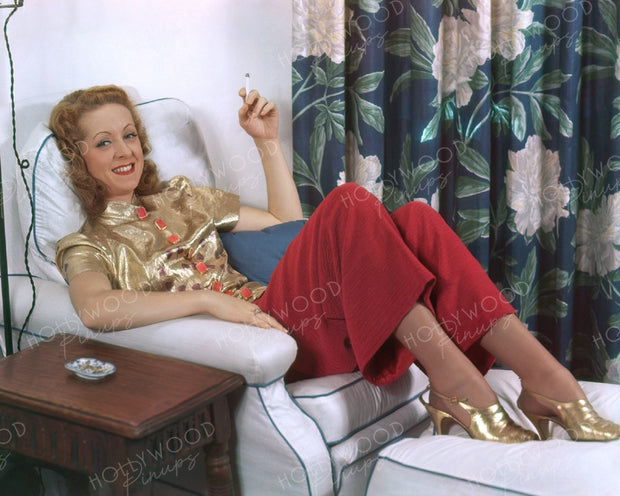Danielle Darrieux Relaxed Glamour 1938 | Hollywood Pinups | Film Star Colour and B&W Prints