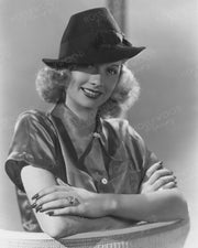 Lucille Ball Slick Fedora 1936 by ERNEST BACHRACH | Hollywood Pinups | Film Star Colour and B&W Prints