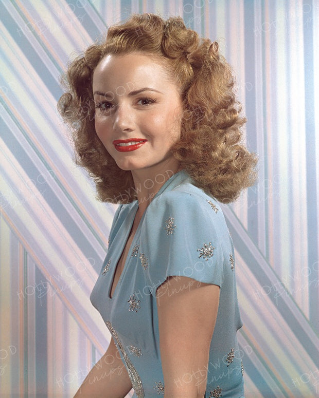Janet Blair Pastel Blues 1943 | Hollywood Pinups | Film Star Colour and B&W Prints