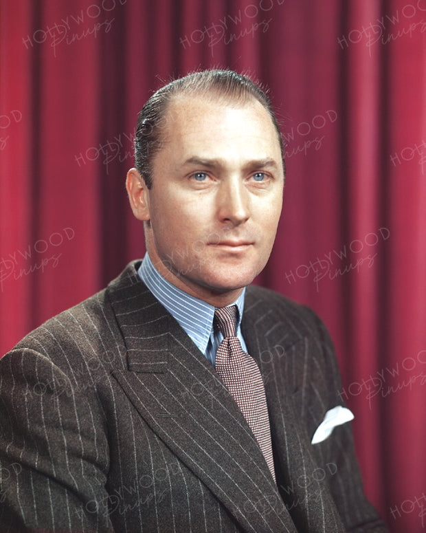 Brian Aherne Blue Eyes 1940 | Hollywood Pinups | Film Star Colour and B&W Prints