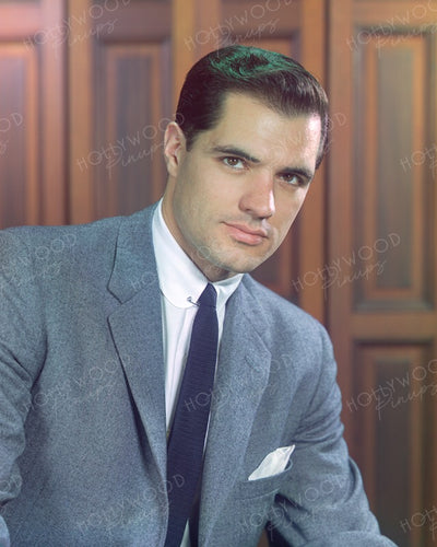 John Gavin Brooding Gaze 1958 | Hollywood Pinups | Film Star Colour and B&W Prints